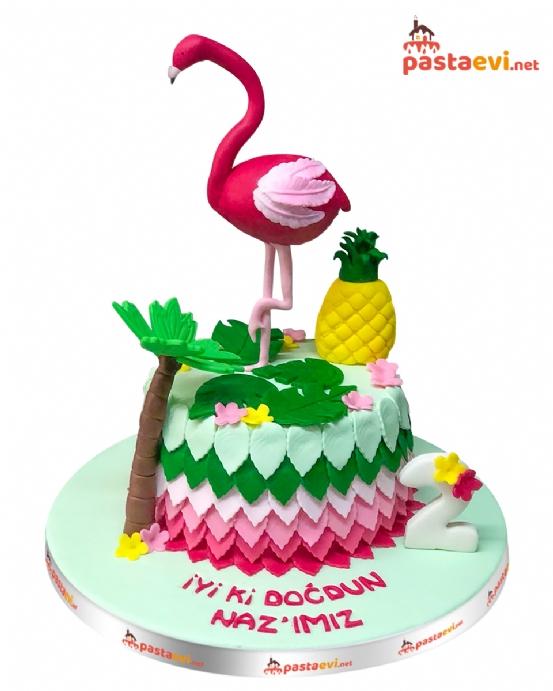 Flamingo Doğum Günü Pastası