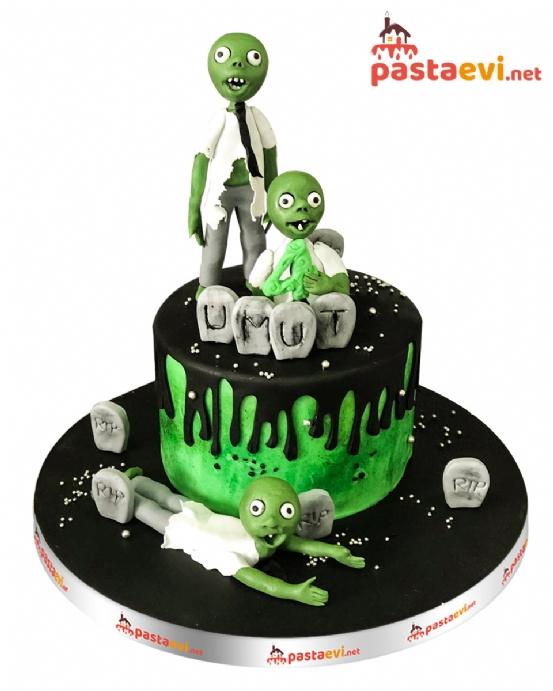 Uzaylı Zombi Butik Pastası
