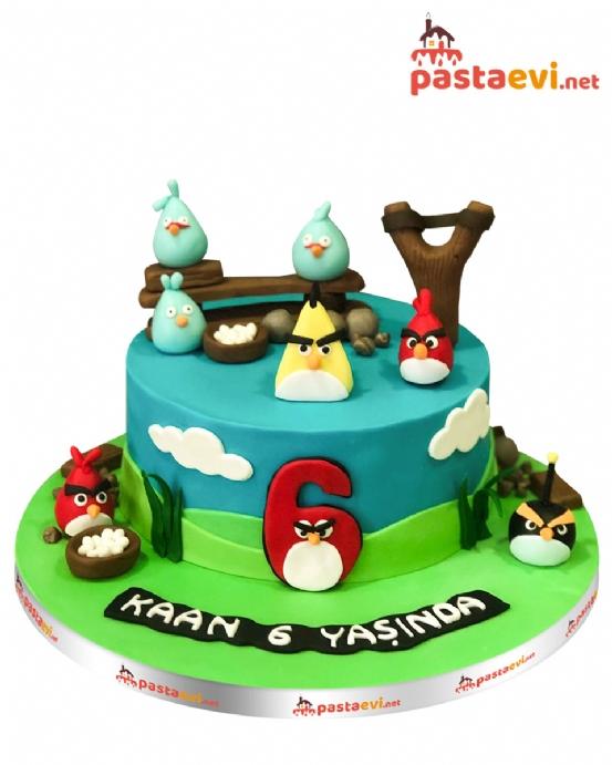Angry Birds Butik Pastası