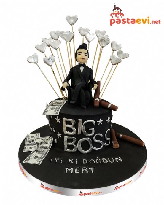 Black Big Boss Doğum Günü Pastası