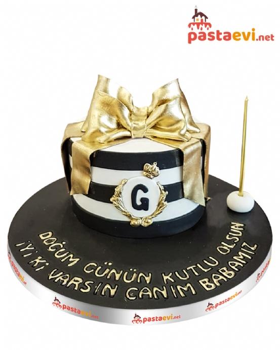 Gold Kurdeleli Butik Pastası