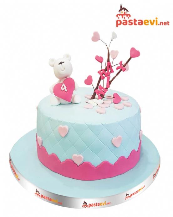 Ayıcıklı Aşkın Dalları Butik Pastası