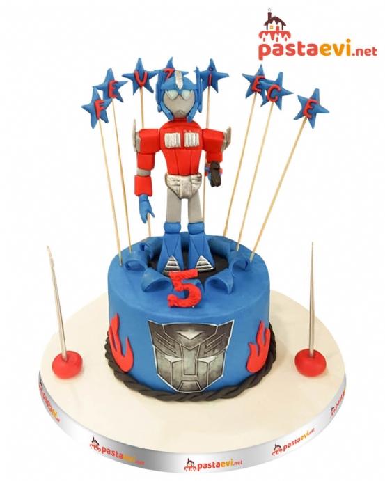 Transformers Doğum Günü Pastası