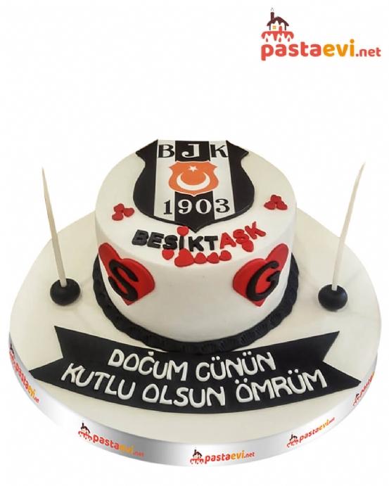 Beşiktaşk Logolu Pasta