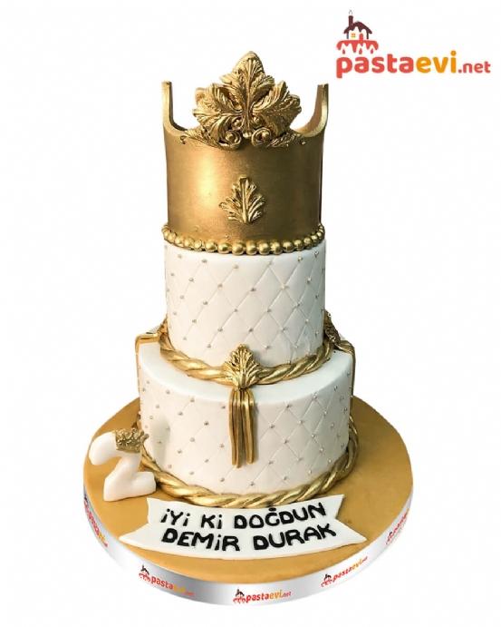 Altın Taç Doğum Günü Pastası