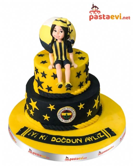 Fenerbahçe Kız Figürlü Pasta
