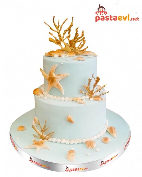Deniz Temalı Butik Pasta