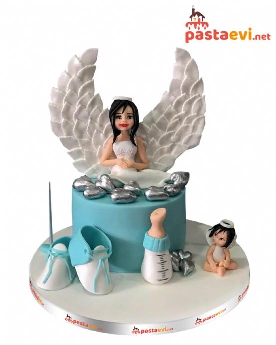 Kanatlı Hamile Anne Butik Pastası