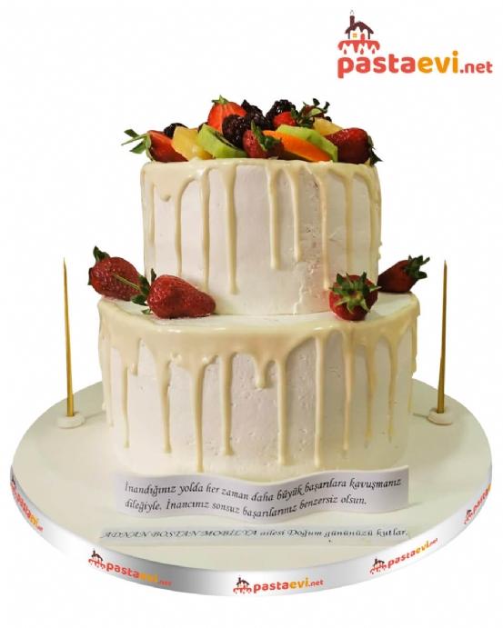 Meyve Süslemeli Naked Pastası