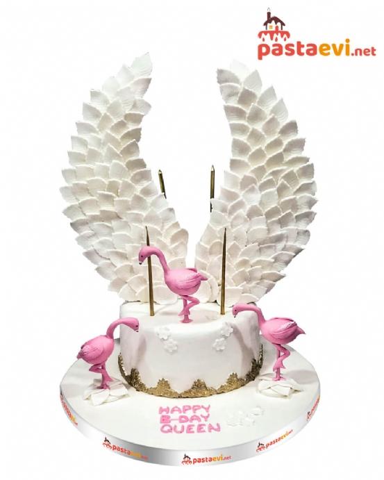 Kanatlı Flamingo Butik Pastası