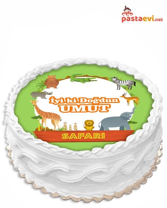 Safari Resimli Pasta
