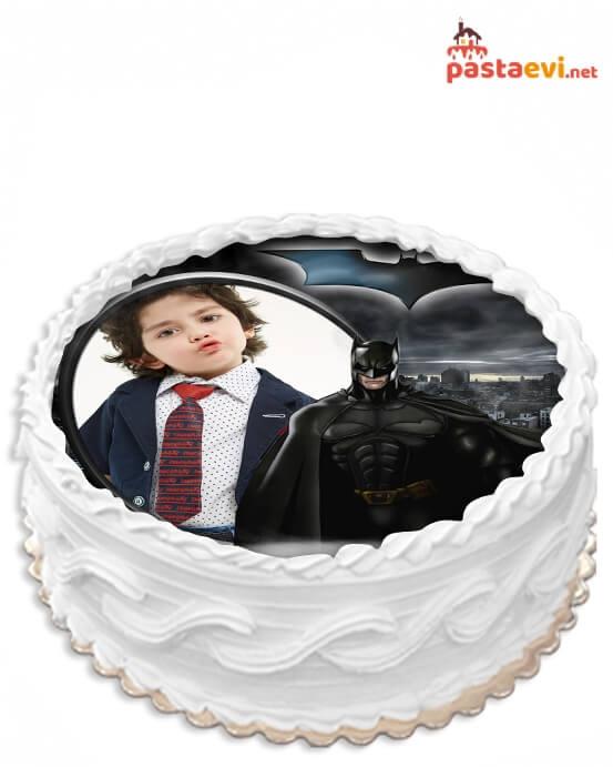 Batman Fotoğraflı Pasta