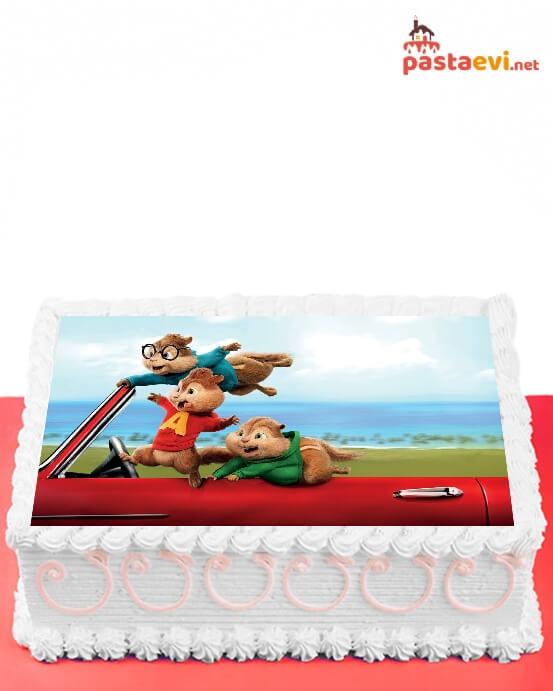 Alvin ve Sincaplar Resimli Pasta