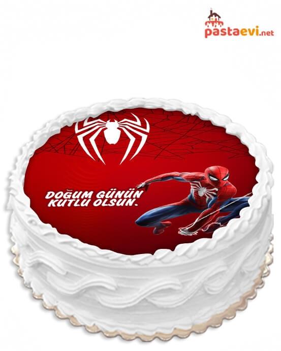 Örümcek Adam Resimli Pasta