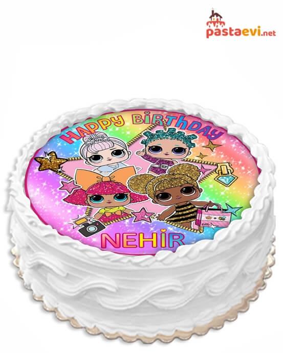 Lol Bebek Resimli Doğum Günü Pastası