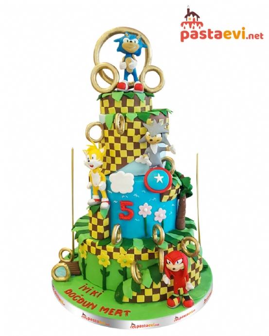 Kirpi Sonic ve Dostları Pastası
