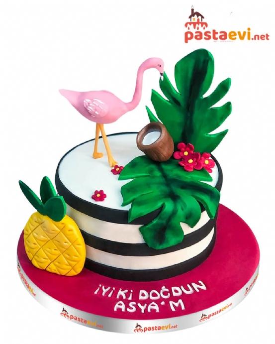 Palmiye Flamingo Butik Pastası