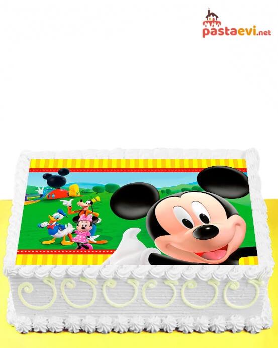 Mickey ve Dostları Resimli Pasta