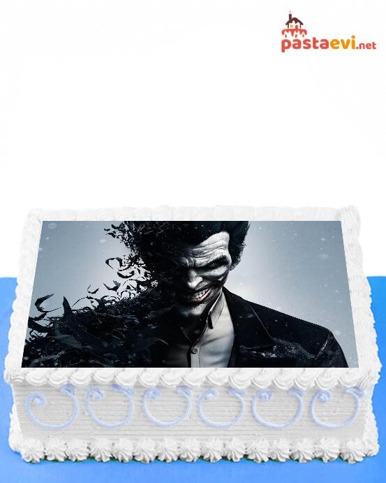 Karanlık Joker Resimli Pasta