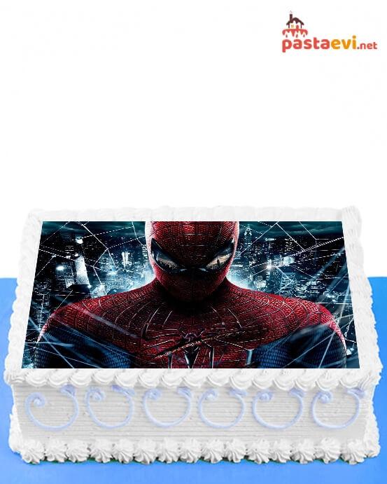 Süper Örüm Adam Resimli Pasta