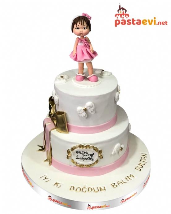 Sevimli Kız Bebek Pastası
