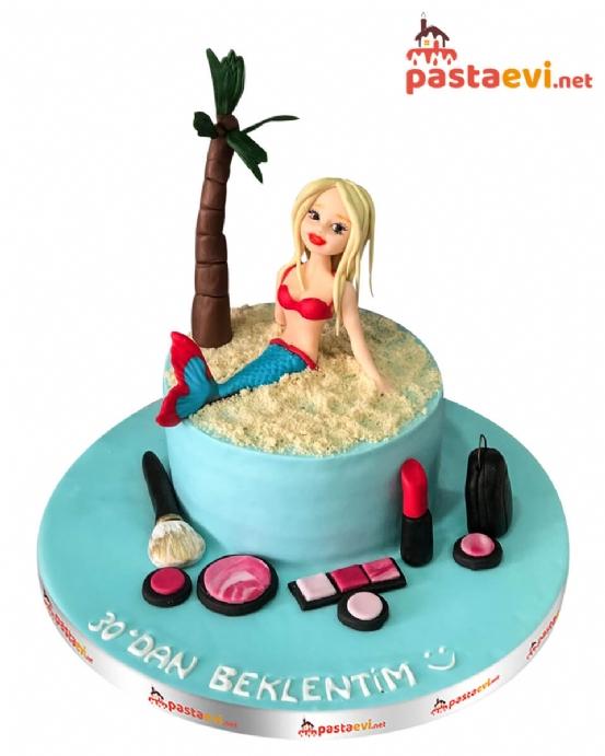 Süslü Deniz Kızı Pastası