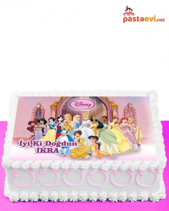 Disney Prensesleri Resimli Pasta