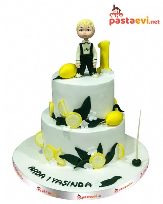 Sevimli Limon Çocuk Pastası