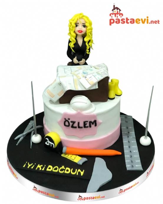 Mimar Kız Doğum Günü Pastası