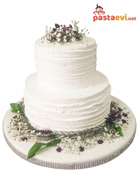 Beyaz Rüya Naked Cake Nişan Pastası