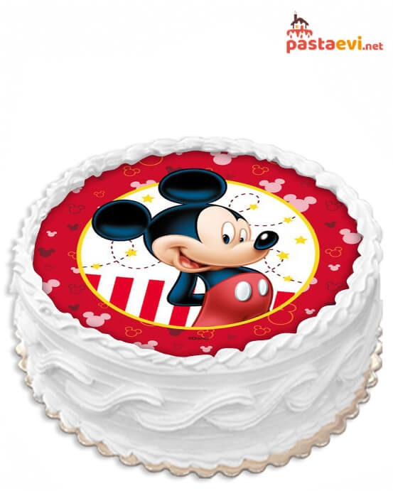 Mickey Mouse Resimli Pasta