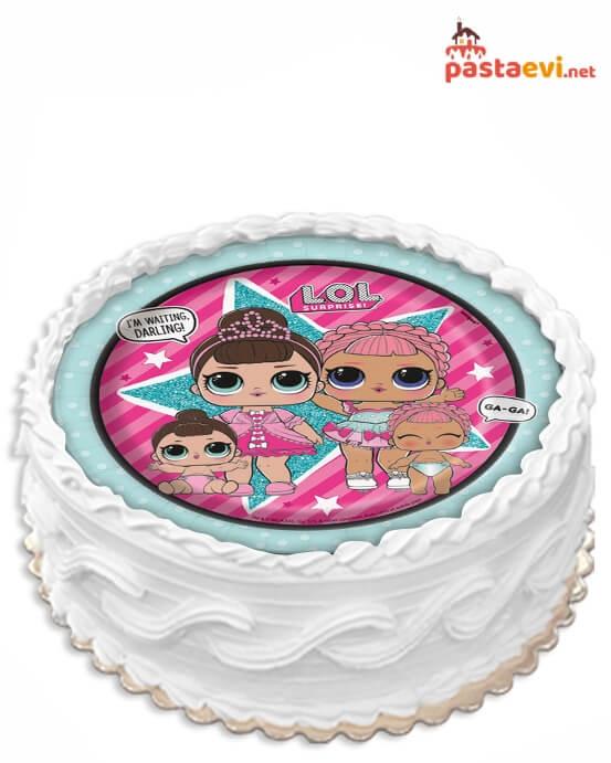 Lol Bebek Resimli Pasta