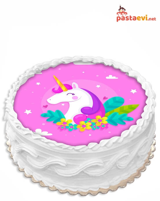 Unicorn Resimli Pasta