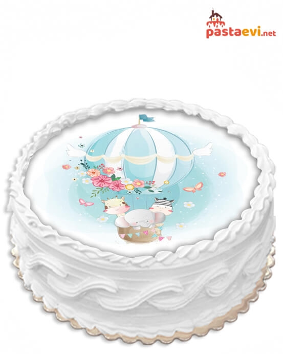 Hayvan Dostları Baby Resimli Pasta