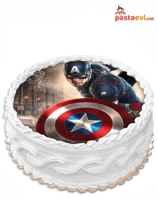 Captan Amerika Resimli Pasta