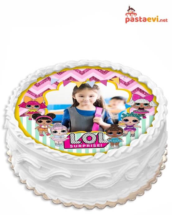 Lol Bebekli Fotoğraflı Pasta
