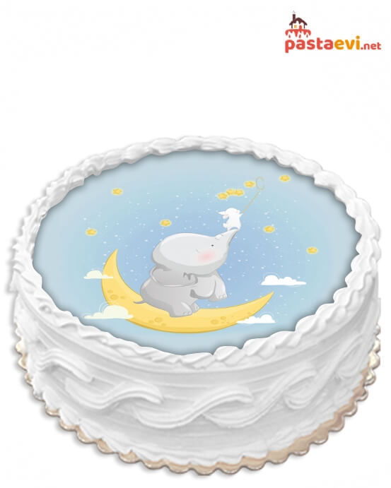 Erkek Bebek Resimli Pasta