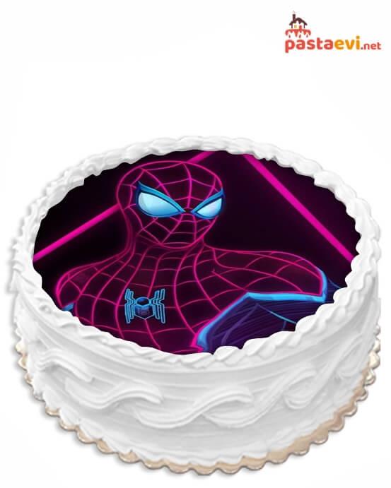 Gizemli Örümcek Adam Resimli Pasta