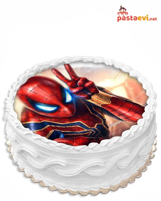 Sevimli Örümcek Adam Resimli Pasta