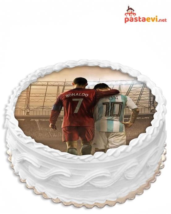 Süper Futbolcular Resimli Pasta