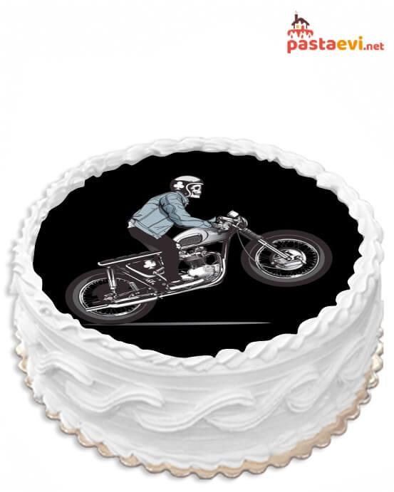 Hayalet Sürücü Resimli Pasta