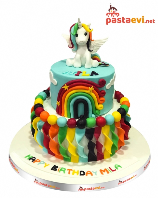Twilight Unicorn Pony Doğum Günü Pastası