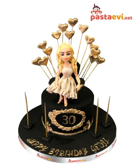 Tahtta Kraliçe Doğum Günü Pastası