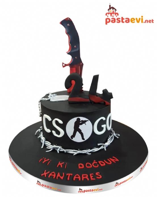 CsGo Fanatik Doğum Günü Pastası