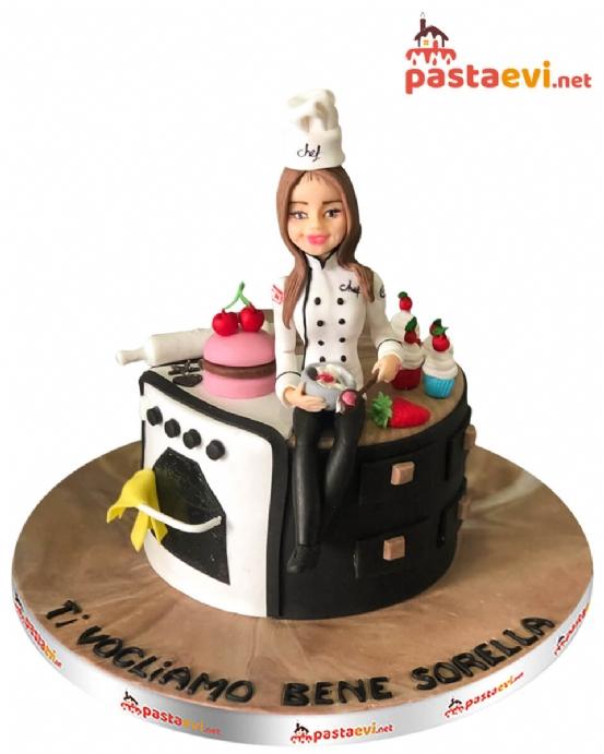 Chef Aşçı Doğum Günü Pastası