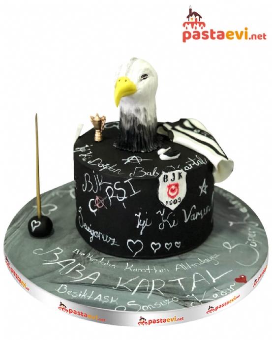Kara Kartal Doğum Günü Pastası