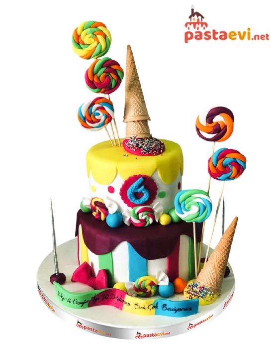Dondurma Şekerleme Parti Pastası