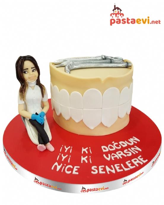 Bayan Diş Doktoru Pastası