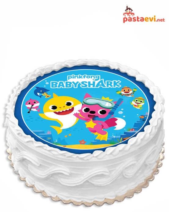 Baby Shark Resimli Pasta