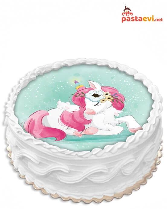 Sevimli Unicorn Resimli Pasta